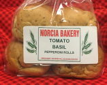 Tomato Basil Pepperoni Rolls | Norcia Bakery Canton OH